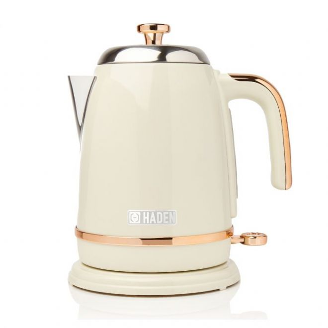 Haden Salcombe Cream And Copper 1.7-Litre Kettle